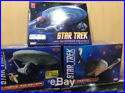 Lot Of Star Trek-polar Lights Star-AMT Model Kits-USSEnterprise Klingon D7-Surak