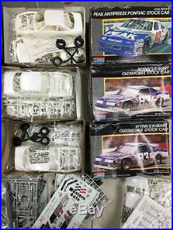 Lot of 13 Vintage Monogram AMT 1/25 Model Car Kits Unbuilt Petty Bill Elliot