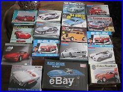 Lot of 17 Model Kits Corvette revelle amt Monogram cobra firebird shelby ford