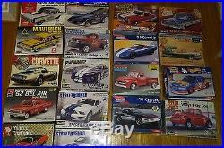 Lot of 18 Model Car Kits Revell MPC AMT MONOGRAM LINDBERG FORD CHEVY 1/25