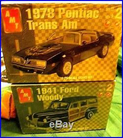 Lot of 21 AMT & REVELLE Vintage Car CLASSICS/HOT ROD Model Kits Sealed/Unbuilt