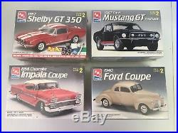 Lot of 4 New AMT Ertl Model Kits 67 Shelby GT, 67 Mustang GT, 58 Impala, 40 Ford