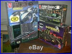 Lot of 4x AMT & Revell Batman 1989-1995 Movie Model Kits Brand New & Sealed
