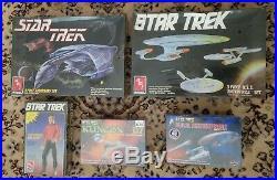 Lot of 5 Star Trek Model Kits Polar Lights & AMT All New Sealed
