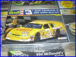 Lot of 7 New Nascar Model Kits / Earnhardt, Petty, Zerex, Crayola and more