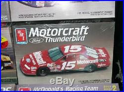 Lot of 8 AMT FACTORY SEALED NASCAR RACE CAR Model Kits