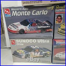 Lot of 8 AMT FACTORY SEALED NASCAR RACE CAR Model Kits Bill Elliott Mark Martin