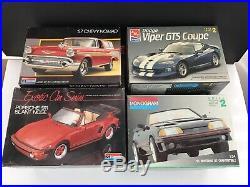 Lot of 8 Monogram AMT MPC Revell CAR Model Kits Viper Warbird Corvette Mustang