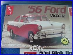 Lot of 9 AMT, Monogram, Lindberg Ford 1/25 Plastic Model Car Kits