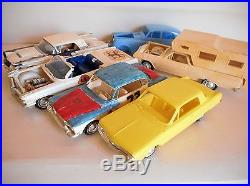 Lot of Original Issue Assembled AMT 1/25th Scale Model Cars Junk Yard