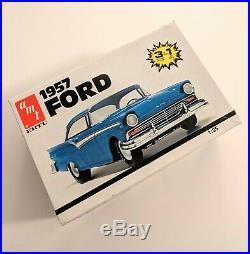MODEL CAR KIT LOT (2 KITS) AMT 1957 Ford & REVELL 1948 Ford Custom Coupe 1/25