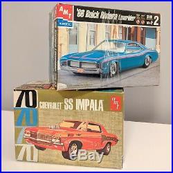 MODEL CAR KIT LOT (2 KITS) AMT Chevrolet SS Impala & 66 Buick Riviera 1/25