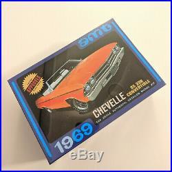 MODEL CAR KIT LOT (3 KITS) AMT 64 Marauder, 69 Chevelle, 69 Corvair 1/25 SEALED