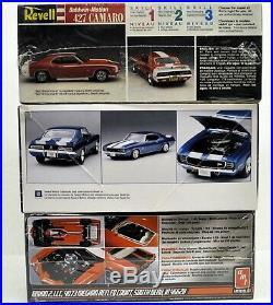 MODEL CAR LOT H (3) AMT and REVELL 1/25 CHEVROLET CAMARO car kits