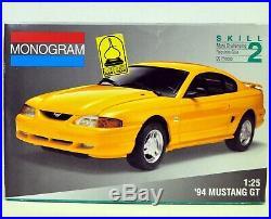 MODEL CAR LOT J (3) AMT & MONOGRAM 1/25 1/24 FORD MUSTANG & SHELBY car kits
