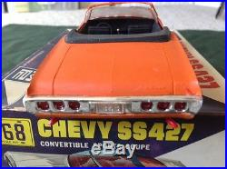 MPC 1968 Built Chevy Impala Convertible SS 427 With Box + Instructions AMT
