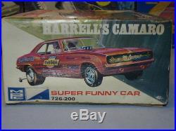 Mpc 1970 Issue Dick Harrell's Super Camaro Funny Car #726-200 Amt Unbuilt Kit