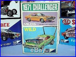 Mpc Annual 1971 Dodge Challenger #1-7114-225 Amt 71 Rare Vintage S/i Model Kit