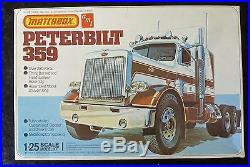Matchbox AMT Peterbilt 359 Model Truck Kit 1/25 Scale