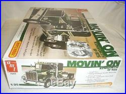 Matchbox Amt un built plastic kit of a Kenworth W 925 MOVIN-ON Boxed