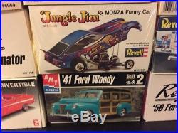 Model Cars Model Kits Unbuilt Revell Monogram Amt Lindberg Not Junk Yard Lot