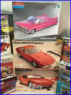 Model kits 1/24 1/25 9 complete kits AMT ERTL mpc monogram testors revell open
