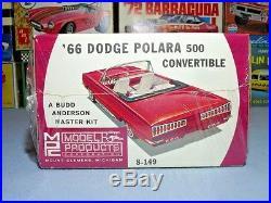Mpc 1966 Dodge Polara 500 Convertible #8-149 1/25 66 Amt Factory Sealed Kit
