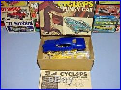 Mpc 1970 Mercury Cyclone Boss 429 Cyclops Funny Car #739-225 1/25 Amt Model Kit