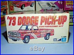 Mpc 1973 Dodge Pickup Vintage Kit#1-7309 1/25 Amt Original 73 Mint Sealed Inside