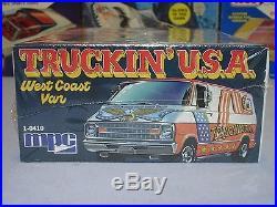 Mpc 1974 Dodge Truckin USA West Coast Van #1-0410 74 Amt Vintage F/s Model Kit