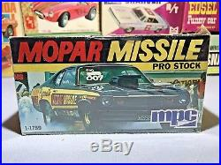 Mpc 1974 Plymouth Duster Mopar Missle Pro-stock #1-1759 1/25 Amt F/sealed Kit