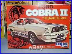 Mpc 1976 Ford Mustang Cobra II Annual 1-0773 Amt 76 1/25 Mint Unbuilt Model Kit