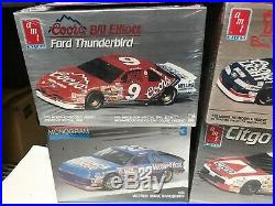 NASCAR MODEL KIT LOT OF 6 ALL SEALED! BILL ELLIOT, DAVEY ALLISON, Bobby Allison++