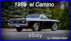 NEW 1969 el Camino pkg. #4 (Holy Grail) 1/25 AMT by Reliable Resin