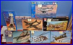 NEW, 7 Vintage Military Model Kits, Italeri, Modelcraft, Revell, AMT & Glencoe