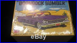 NEW SEALED Vintage 1/25 AMT 1960'S BOONDOCK BOMBER 59 Buick Car Kit T142 150