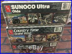Nascar Model Kits Lot of Nine New in box Sealed AMT 1/25 Scale