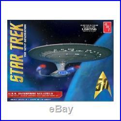 New Star Trek USS Enterprise 1701-D Clear Edition 11400 AMT Plastic Kit AMT955