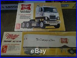 New amt t558 gmc astro 95 miller high life and trailer 559 (old stock)
