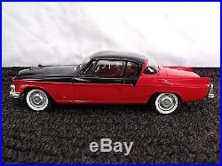 Nice Vintage AMT Red with Black Top 1956 STUDEBAKER GOLDEN HAWK Promo Model Car