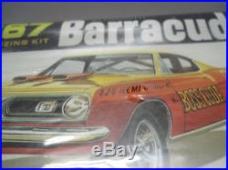 Nos 1/25 Original Amt 6857 1967 Plymouth Barracuda Fastback Kit Sealed Box