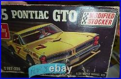 ORIGINAL AMT T187 #3 1965 PONTIAC GTO MODIFIED STOCKER 1/25 McM niOb SI