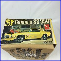 Open Incomplete AMT ERTL T416-225 1973 Chevrolet Camaro ss 350 Model Car Kit