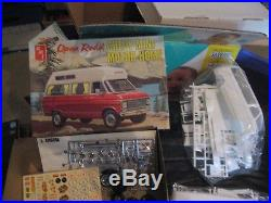 Open Road Chevy Mini Motor Home AMT Parts mint in original bags 1/25-1970s