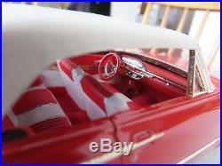 Original 1/25 Amt 1961 Ford Galaxie Convertible Pro Built Model Kit # K-111