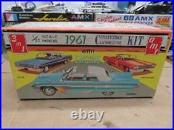 Original 1/25 Amt 1961 Ford Galaxie Convertible Sealed Unbuilt Model Kit #k-111