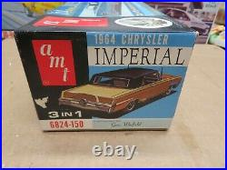 Original 1/25 Amt 1964 Chrysler Imperial Hardtop Unbuilt Model Kit # 6824