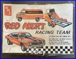 Original Vintage AMT Bob Hamilton's Red Alert Chevelle Racing Team 1970's 1/25