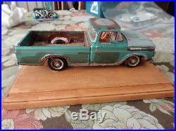 Original Vintage Amt 1960 Ford F100 Pickup Weathered Built Up Very Cool