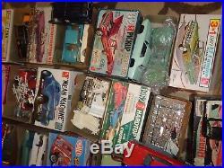PLASTIC CAR MODEL (14) PARTS PIECES LOT OF MISC. AMT MPG MONOGRAM 50's 60's 70's